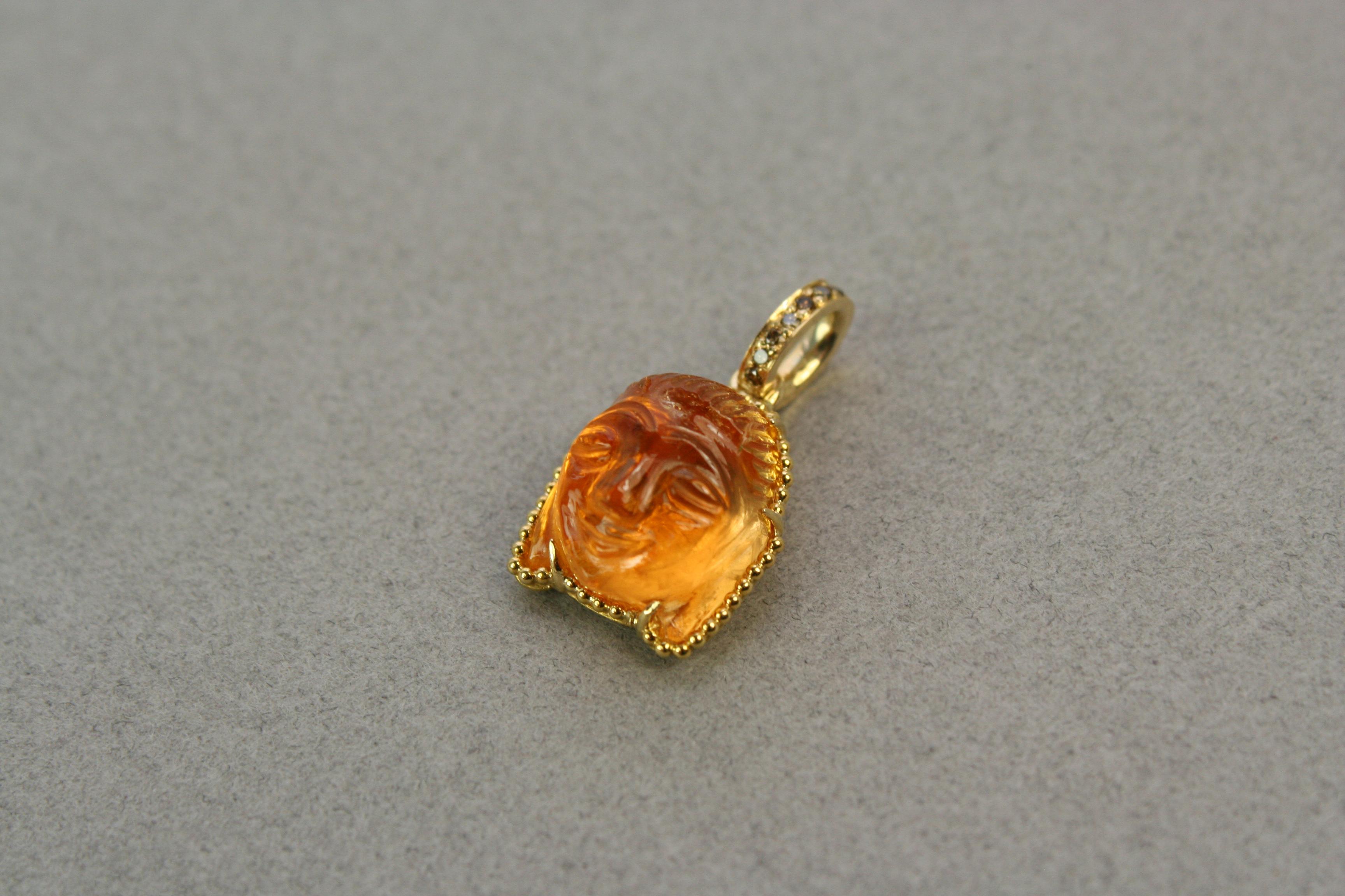 Buddha head pendant